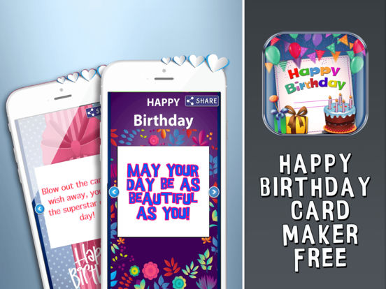 Happy Birthday Card Maker Free Bday Greeting Cards on the App Store – Ipad Birthday Card