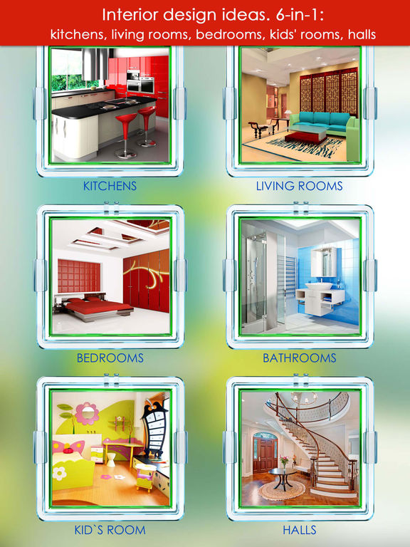 New design ideas interior 6 in 1 screenshot Room design app