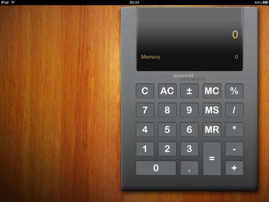 SimpleCalc HD iPad Screenshot 1