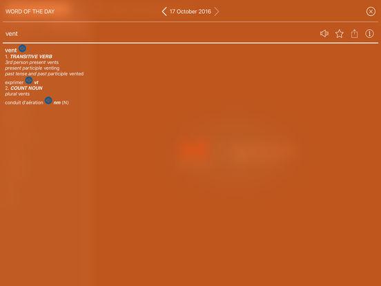Audio Collins Mini Gem English-French & French-English Dictionary iPad Screenshot 3