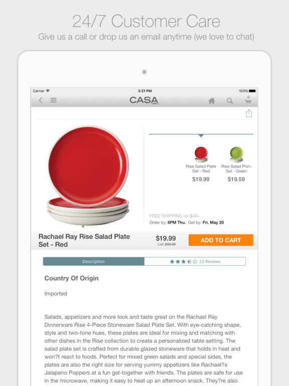 Casa.com - Décor, Bed, Bath, Cookware, and Home Goods - Free Shipping screenshot