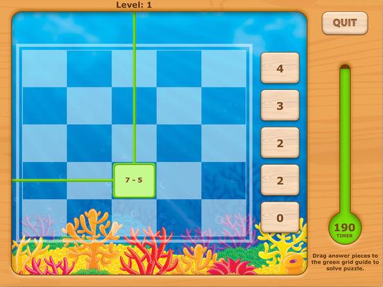 Adventures UnderSea Subtraction Game iPad Screenshot 3