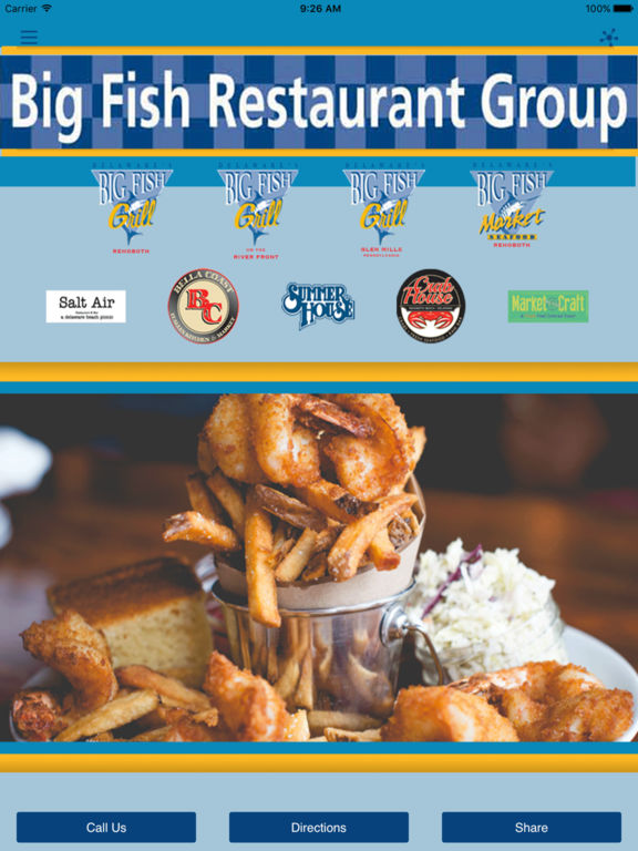App shopper big fish restaurant group food drink for One fish two fish restaurant