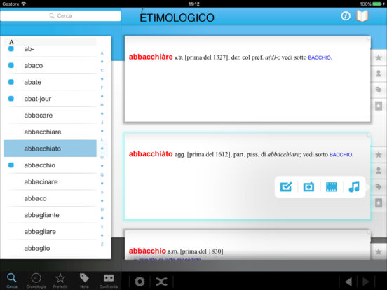 l'Etimologico iPad Screenshot 3
