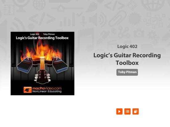 Logic's Guitar Recording Toolbox iPad Screenshot 1