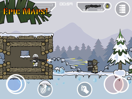 Doodle Army 2 : Mini Militia - Online Multiplayer Screenshots