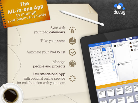 Beesy - Take meeting notes with automated To-Do list and Task / Project management screenshot