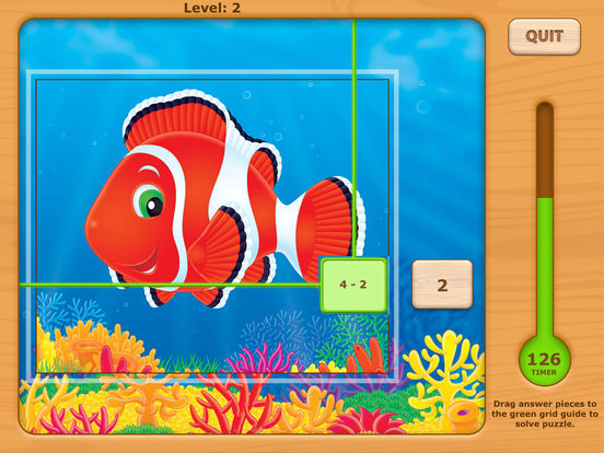 Adventures UnderSea Subtraction Game iPad Screenshot 2