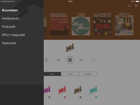 NRJ Finland iPad Screenshot 5