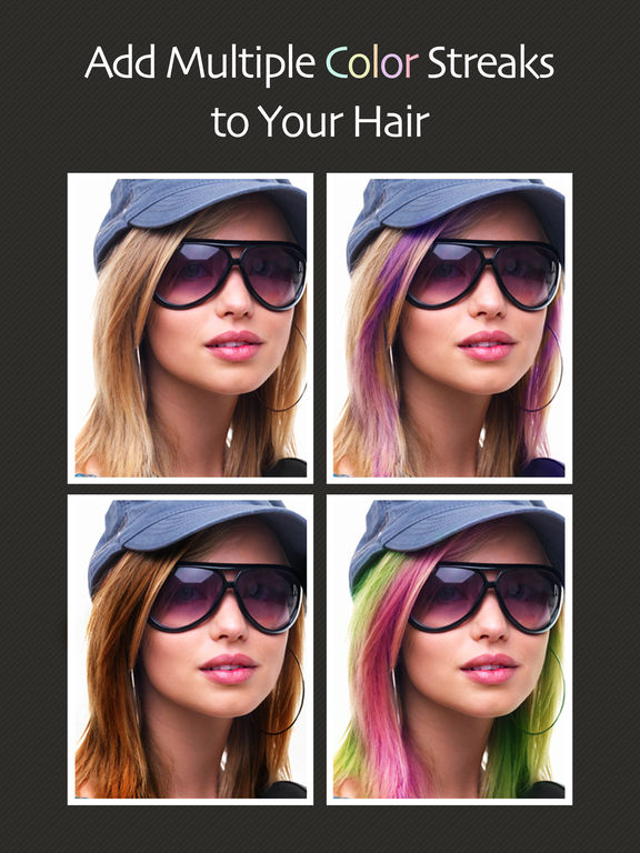 Perfect Hair Romance  Modiface Hair Colour Hair App