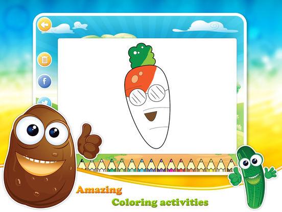 Veggies & Fruits: kids educational games - Englishscreeshot 4