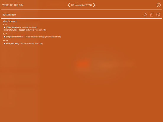 PONS Standard Dictionary English <-> German iPad Screenshot 3