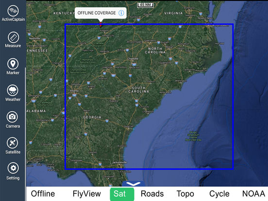 Marine: Georgia-South & North Carolina HD iPad Screenshot 5