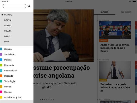 TVI24 iPad Screenshot 2