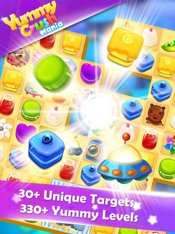 Yummy Crush Mania - Quest of Candy Match 3 Games для iPad