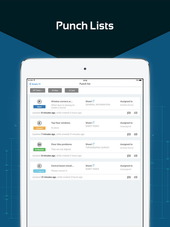 App shopper punch list construction reports for Punch list definition