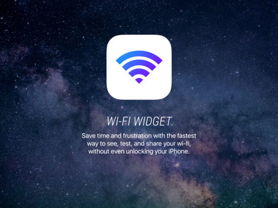 Wi-Fi Widget Screenshot