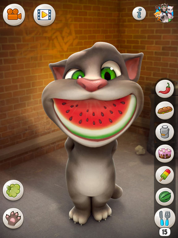 talking tom cat for ipad on the app store. Black Bedroom Furniture Sets. Home Design Ideas