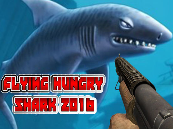 Flying Hungry Shark Endless Shooting Sniper Games-ipad-0