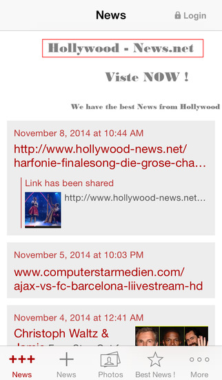 Hollywood-News.net screenshot 1