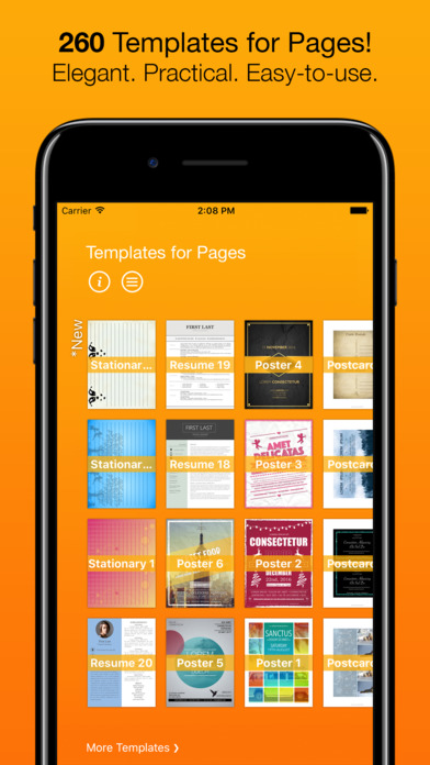 Screenshot Templates for Pages (for iPad, iPhone, iPod touch)