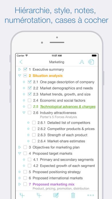 Screenshot Cloud Outliner 2 Pro: Outline your Ideas & Plans