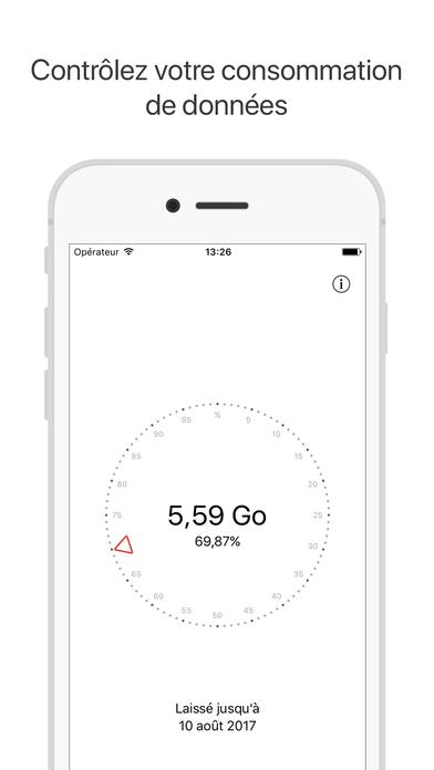 Screenshot Databit: Consommation de données mobiles 3G/4G/LTE