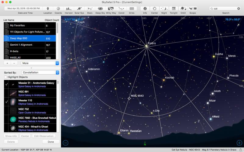 Screenshot SkySafari 5 Pro