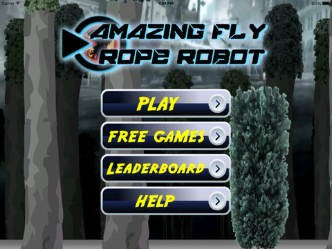 Amazing Fly Rope Robot - Revenge Cyber War Lords screenshot 6
