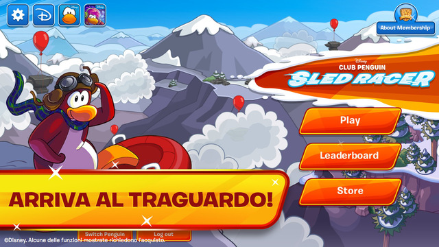 Sled Racer di Club Penguin