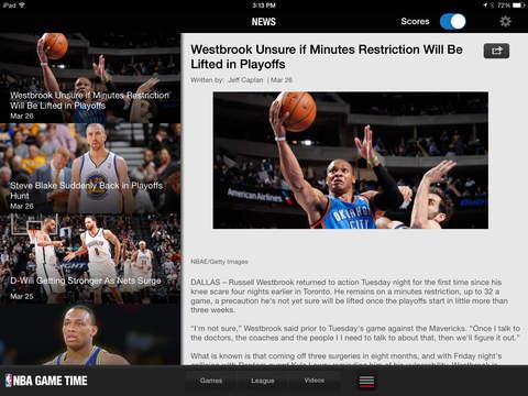 NBA: Live Games & Scores screenshot 8