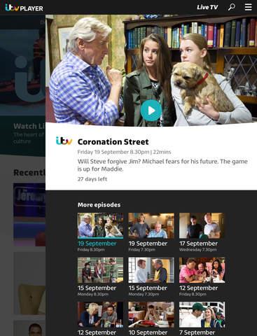 ITV Hub: TV Player & Catchup screenshot #3