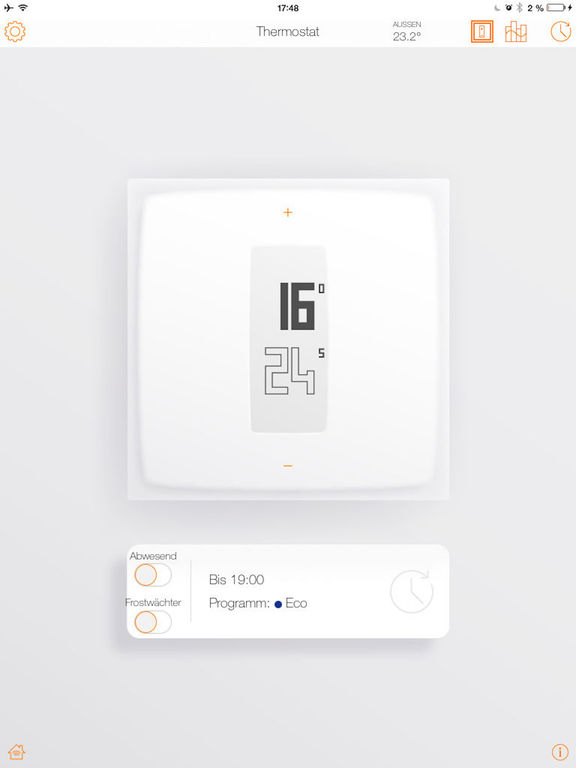 Netatmo Raumthermostat Screenshot