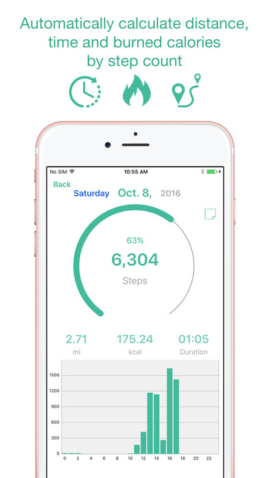 iphone step counter maipo step counter amp calendar pedometer app on the app 12348