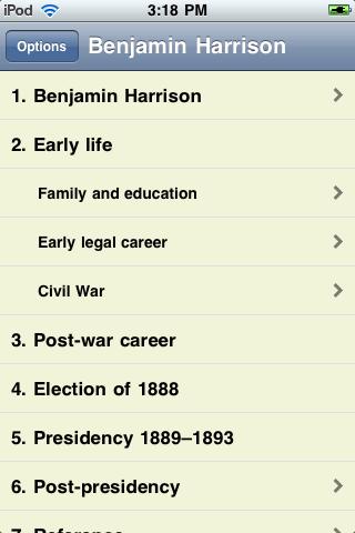 Benjamin Harrison - Just the Facts screenshot #1