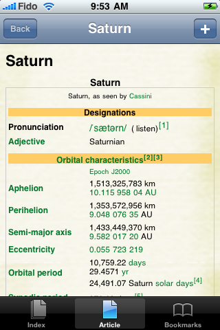 Saturn Study Guide screenshot #1