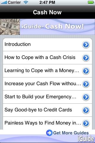 iGuides - Cash, Now! screenshot #1