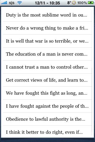 Robert E Lee Quotes screenshot #2