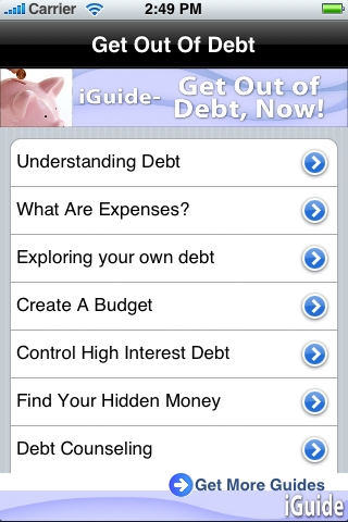 iGuides - Get out of Debt, Now! screenshot #1