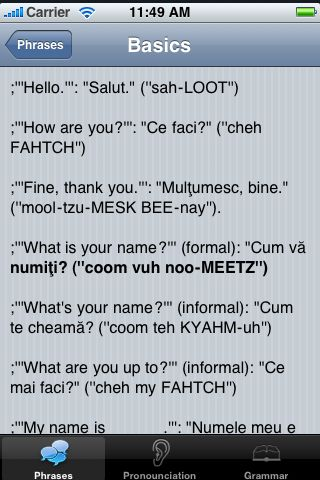 iTrek! - Romanian Phrasebook screenshot #3