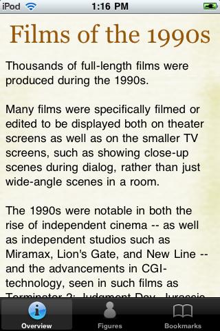 1990's Movie Almanac screenshot #1
