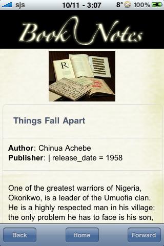 Book Notes - Things Fall Apart screenshot #3