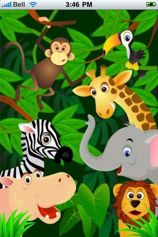 Jungle Animals Slide Puzzle screenshot #1