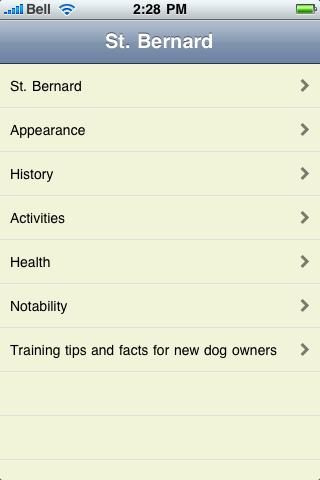 The Saint Bernard Book screenshot #1
