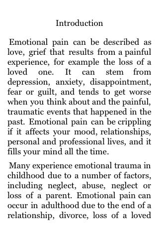 Dealing With Your Emotional Pain screenshot #3