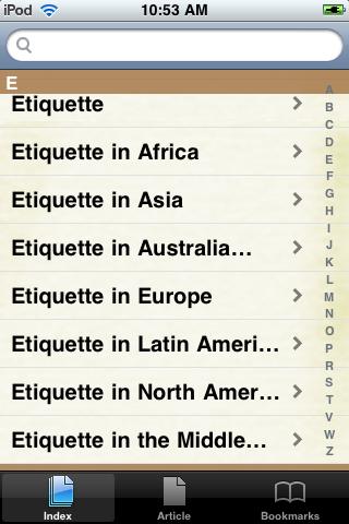 Etiquette Study Guide screenshot #2