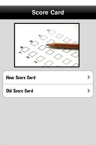 Score Card screenshot #1