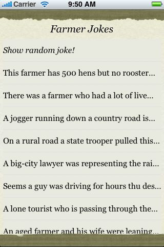 Farmer Jokes screenshot #3