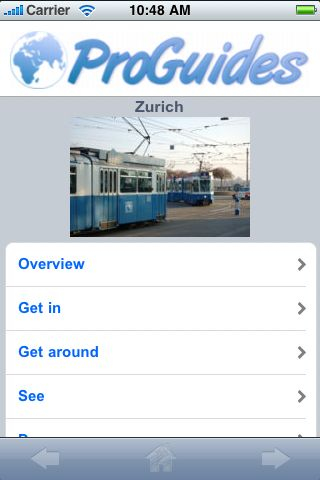 ProGuides - Zurich screenshot #1