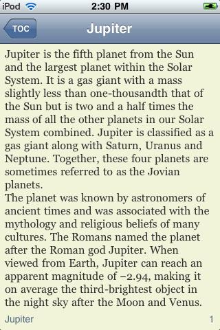 Jupiter screenshot #2